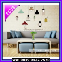 (Dijamin) WALL STICKER 60X90 JM7306 CLASSIC LAMP
