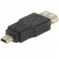 Mini Usb Male 5 Pin To Usb 2.0 Female Otg Adapter Bisa untuk Head Unit Audio Mobil