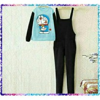 Jumpsuit Overall Doraemon Set