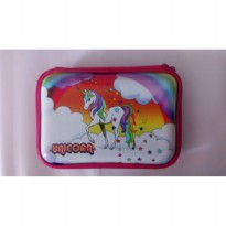 HPO (Hard Pencil Case Organizer/Tempat Pensil) model Smiggle - Unicorn