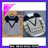 (Murah) TRIANGEL GREY NAVY