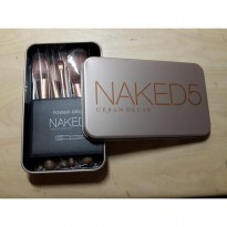 Naked 5 Brush Kaleng 12 in 1 / Make Up Brush Set Naked 5 / Kuas Naked 5 | 12pcs