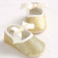 Prewalker Shoes Gold size 1,2,3 (0-18 bulan)
