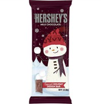 [poledit] HERSHEY`S HERSHEYS Holiday Milk Chocolate Snowman Bar, 3.5 Ounce (Pack of 12)/14703025