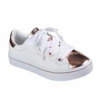 Sepatu Olahraga Sneakers Casual Skechers Women Street LF Shoes- WhiteGold 982WTRG
