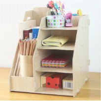 Rak Pulpen Stationery Rack /Rak Buku Kayu Rak Buku Portable A-340mp