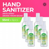 Antis Botol Spray Timun 6x55Ml