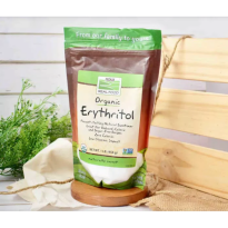 Now Foods Real Foods Organic Erythritol 454 Gr