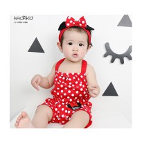 Kacakid Minnie Mouse Romper w/ Headband