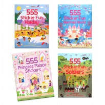 [Xivan] 555 Sticker Fun PRINCESS PALACE/MERMAID WORLD/HOLIDAY/SOLDIERS Sticker Book
