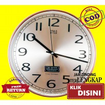 Jam Dinding Stylo 3111-8 Chrome Bulat Minimalis Sweep Diameter 30 cm Best Seller