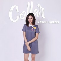 Jo & Nic Collar Patch Dress - Dress Wanita / Mini Dress Wanita