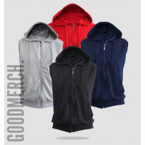 Vest / Sleeveless / Rompi Hoodie Zipper Polos 'HIGH QUA