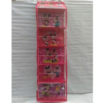 Rak Tas Gantung Minnie Mouse (Hanging Bag Organizer Minnie Mouse)