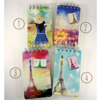 Mini Notebook / Buku Agenda Catatan / Diary Fancy - PARIS