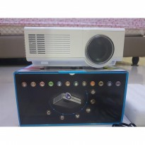 Tv Layar Lebar Projector Mini Proyektor TJ600D 1500 Lumens 50.000 Jam TV Tuner Build In
