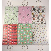 Mini Notebook / Buku Tulis / Agenda Diary Motif Fancy