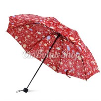 6Warna Payung Lipat VINTAGE FLORAL - Anti UV Umbrella