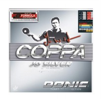 DONIC Coppa JO Rubber Bat Pingpong - Silver Red [Max]