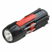 Obeng senter Led Multifungsi 8 in 1
