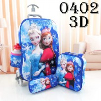 DJ fashion Tas Troli Anak 3D 4 in 1 - Frozen