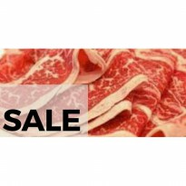 SALE NEW ITEM DAGING SAPI WAGYU BEEF SLICED RUMP MB 4-5 500gr