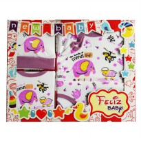 Baby Gift Set Feliz Baby Friends Ship Elephant - Satu Set Pakaian Bayi
