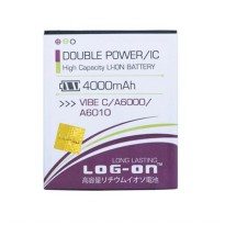 LOG-ON Battery For Lenovo Vibe C/A6000/A6010 4000mAh - Double Power & IC Battery - Garansi 6 Bulan