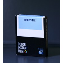 Film Polaroid Tipe 600 Color White Frame Merk Impossible Project