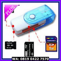 (Dijamin) CARD READER 4 SLOT PUTAR / ROTATE / ALL IN ONE PACKING