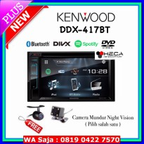 #Audio Mobil Paket Audio Mobil Kenwood DDX-417BT Double din Tape Head Unit + Kamera