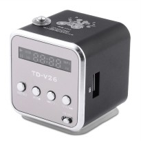 (Murah) Mini Digital Speaker TD-V26 USB FM Radio SD TF Card MP3