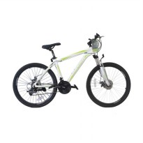 Viva Cycle L3111 Exposed - 660E Alloy MTB Shimano 21sp Sepeda Gunung- White [26 Inch]