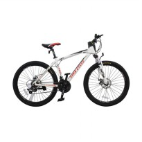 Viva cycle L3111 Track 665 Alloy MTB Shimano 21sp Sepeda - Putih [26 Inch]