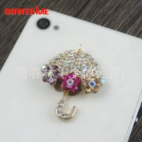 [globalbuy] DOWER ME brand DIY Decoration 3D Alloy Stickers for Phone Crystal Umbrella Bea/5424844