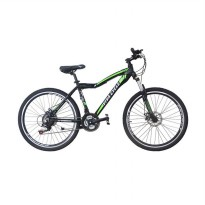 Vivacycle RUSH 660 Alloy MTB Shimano 21sp L3111 - Hitam [26 Inch]
