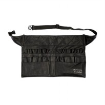 Masami Shouko Leather Black Waist Makeup Bag
