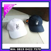 (Sale) TOPI BASEBALL BORDIR PEACE / TOPI TUMBLR CAP MURAH