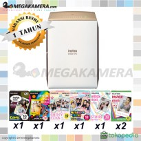 Fujifilm Instax Share SP-2 - Smartphone Printer Gold + Paket Paper
