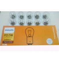 Bohlam Lampu Rem Mobil / Brake Light bulb - PHILIPS 12V P21/5W Kaki 2 Original