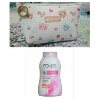 Ponds Pinkish White Powder dan Pouch