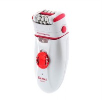 Kemei KM-1981 3 In 1 Electric Callus Remover Extra Epilator Shaver - Red