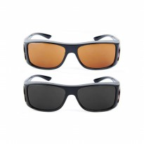 HD Vision Wrap Arounds Sunglasses Set of 2pcs - Kacamata UV Protection