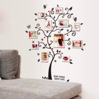 [globalbuy] New Chic Black Photo Frame Tree Butterfly Flower Heart Mural Wall Sticker Livi/3751133
