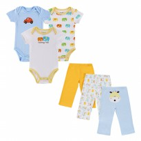 Mother Nest 3 Sets Bodysuits Pants - Elephant - Jumper