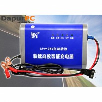Charger Aki Portable 12-24V 10A Mobil Motor Intelligent Chip