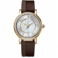 Guy laroche - SL1001-01 jam tangan wanita - leather strap - coklat
