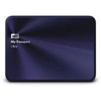 WD My Passport Ultra Metal 1TB - HardDisk Eksternal - Biru - Free Pouch