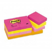 3M Post - it 653 Neon Colour 1.5' x 2' Pack