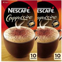 [poledit] Nescafe Cappuccino Sachets 10 Serves ( Pack 2 x 10 Packets ) 132gm x 2 With Choc/14701344